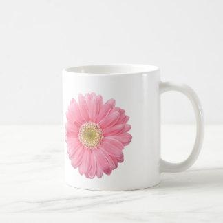 PINK DAISY Single Flower White Background P25A Classic White Coffee Mug