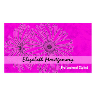 Pink Daisy Stylist Appointment Business Card Business Card Template