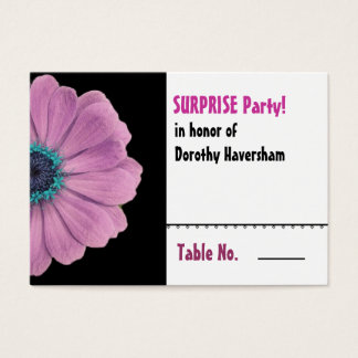 Pink Daisy Surprise Birthday Table Place Card