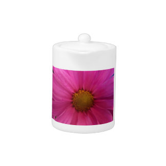 pink daisy teapot