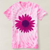 Pink Daisy Tie Dye Shirt