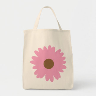 Pink Daisy Tote Bags