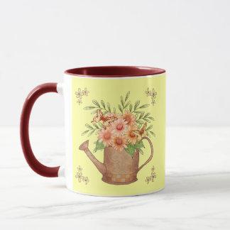 Pink Daisy Watercan Mug