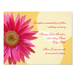 Pink  Daisy Wedding Card
