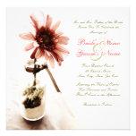 Pink Daisy Wedding Invitation