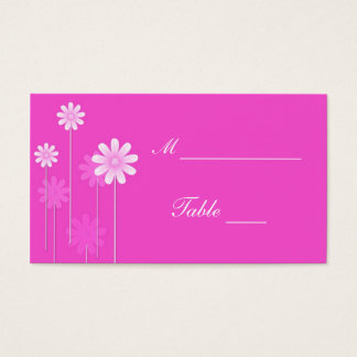 Pink Daisy Wedding Place Card Holders