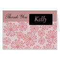 Pink DaisyThank You Card with Name