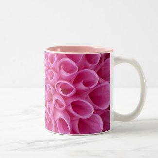 Pink Dalia Flower Mugs