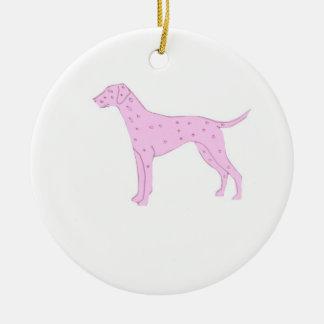 Pink Dalmatian Ornament