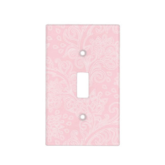 pink damask baby girl nursery bedroom switch plate light switch covers