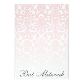 Pink Damask Bat Mitzvah Customizable Invitation