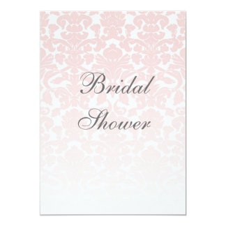 Pink Damask Bridal Shower Customizable Invitation
