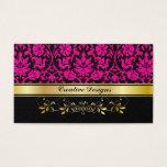 Pink Damask Business Card