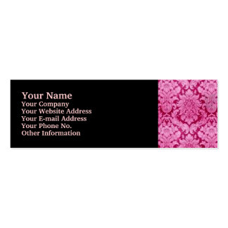 PINK DAMASK Double-Sided MINI BUSINESS CARDS (Pack OF 20)