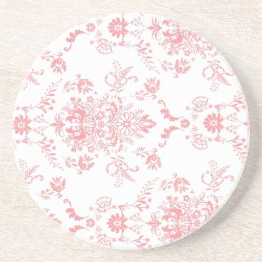 Pink Damask Coaster