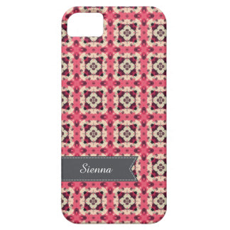 Pink damask cover for iPhone 5/5S
