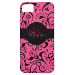 Pink damask customizable iphone 5 case