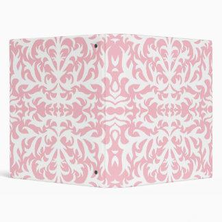 Pink Damask Elegance Avery Binder
