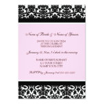 Pink Damask Engagement Party Invitations