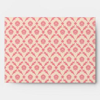 Pink Damask Envelope