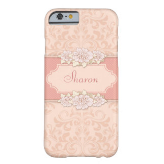 Pink Damask Floral Barely There iPhone 6 Case