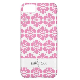 Pink Damask Flowers Pattern Case For iPhone 5C