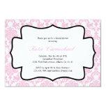 Pink Damask Invitation