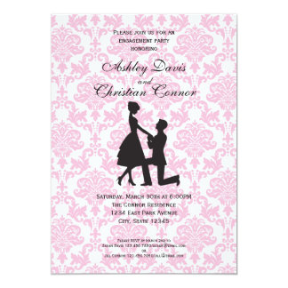 Pink Damask Invitations