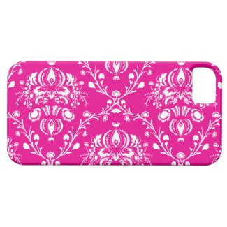 Pink Damask iPhone 5 Cases