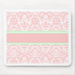 Pink Damask Mouse Pad