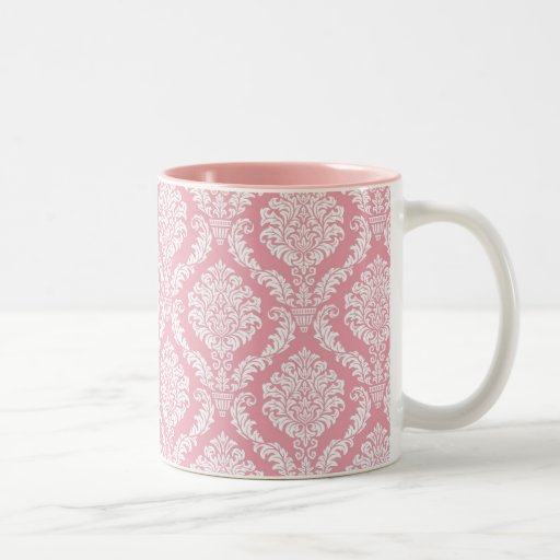 Pink Damask Mug