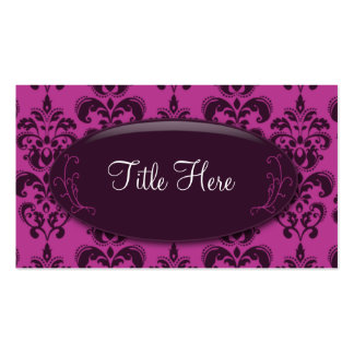 Pink Damask Opal Business Card
