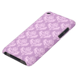 Pink Damask Pattern Barely There iPod Covers