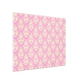Pink Damask Pattern Canvas Print