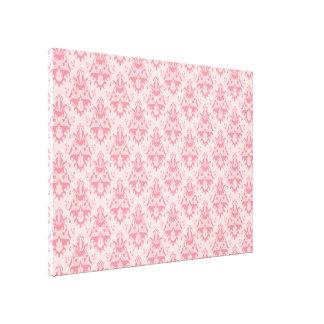 Pink Damask Pattern Canvas Prints