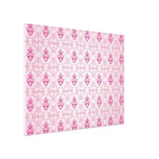 Pink Damask Pattern Gallery Wrap Canvas