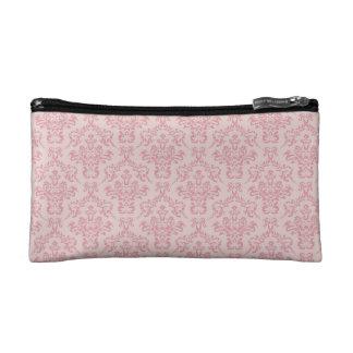 Pink Damask Pattern Cosmetic Bag