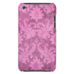 Pink Damask Pattern Feminine Decorative Art Barely There iPod Cover