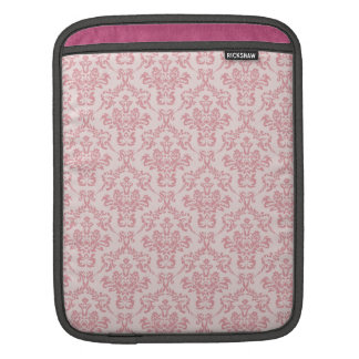 Pink Damask Pattern Sleeve For iPads