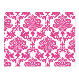 Pink Damask Pattern.jpg Postcard