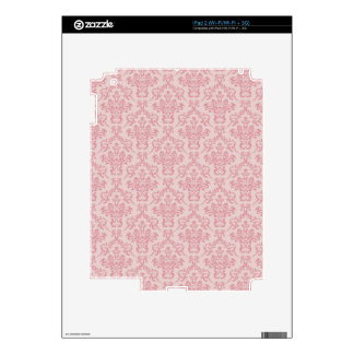 Pink Damask Pattern Skin For The iPad 2