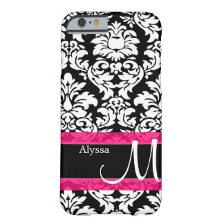 Pink Damask Personalized iPhone 6 Case