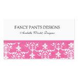 Pink Damask Profile -Business Card