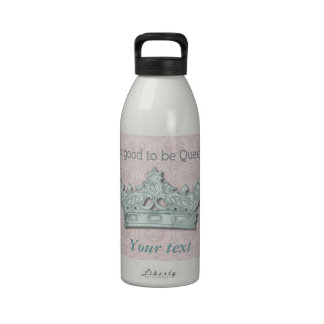 Pink Damask Queen Products Reusable Water Bottle