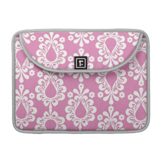 Pink Damask Rickshaw Sleeve for MacBook Pro
