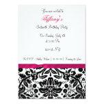 pink damask Sweet Sixteen party Invitation