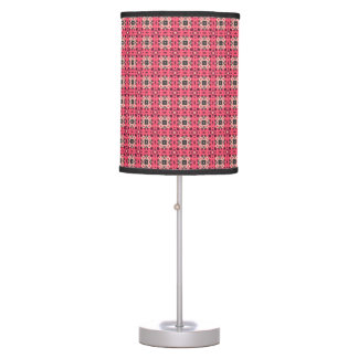 pink damask table lamps