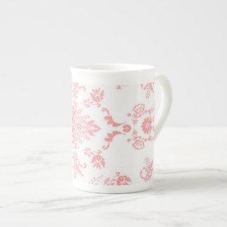 Pink Damask Tea Cup