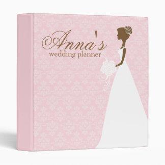 Pink Damask Wedding Planner Binder