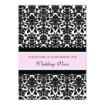 "Pink Damask Wedding Vow Renewal Invitations 5"" X 7"" Invitation Card"
